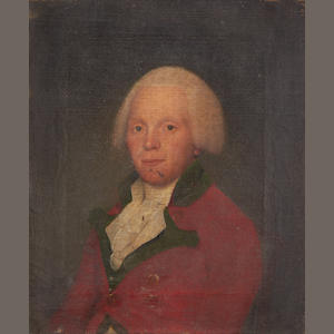 English School (circa 1790) Portrait of Colnel Sleigh, 19th Regiment, 23 Regiment and 83 Regiment, bust length wearing his regimental red coat