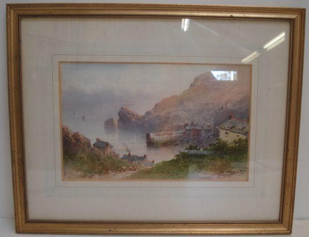 William Cook of Plymouth (British, circa 1830-circa 1890) Cornish Harbour Scene, 20 x 32cm.