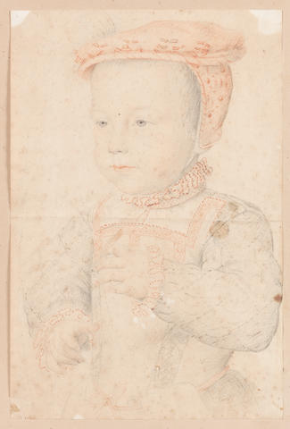 Circle of François Clouet (Tours 1522-1572 Paris) Portrait of Hercule François de Valois-Angoulême, Duc d'Alençon and d'Anjou (1555–1584) as a child