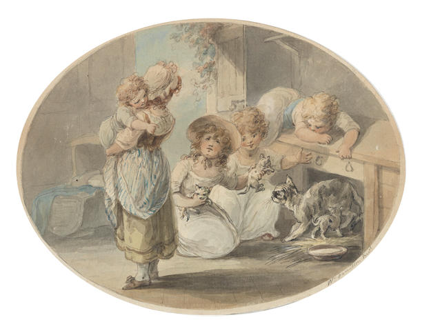 William Hamilton (Chelsea 1751-1801 London) Puppies and Kittens  (2).