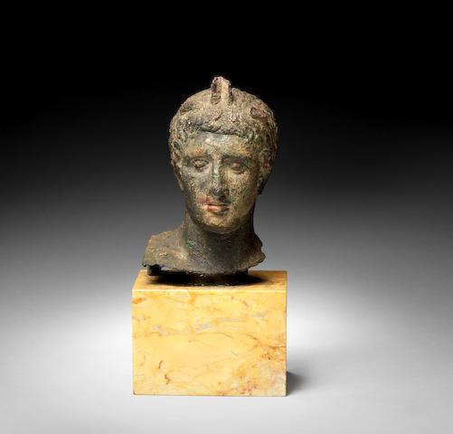A Roman? bronze bust of Mercury - possibly After the Antique