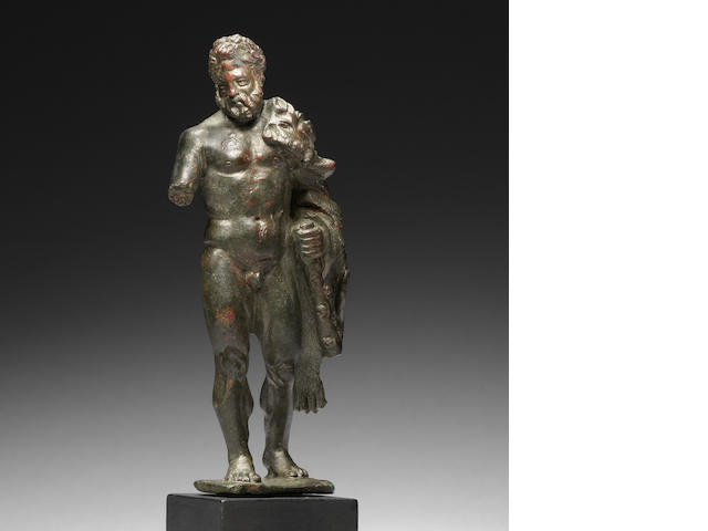A Roman bronze figure of Herakles