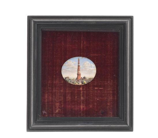 Company School, Delhi or Agra, circa 1860 The Qutub Minar, Delhi