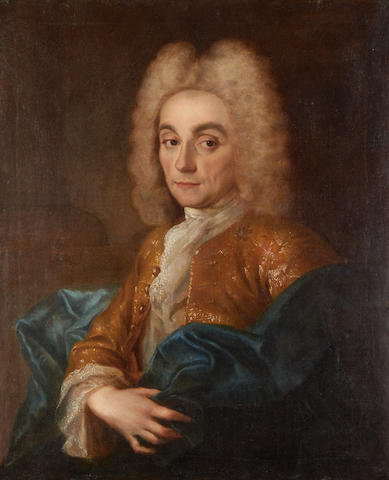 Portrait of Charles Francois, Duc de La Valliere (1670 – 1739) , attributed to Jean Baptiste Oudry, circa 1720
