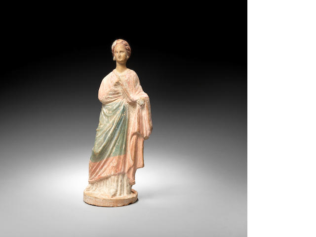 A Greek terracotta female figure  WHAT WAS THE RESULT OF THE TL TEST?? lower estimate £1500-2000