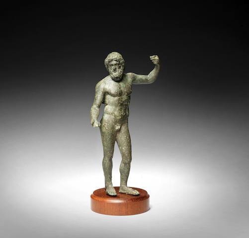 Roman bronze figure of Zeus
