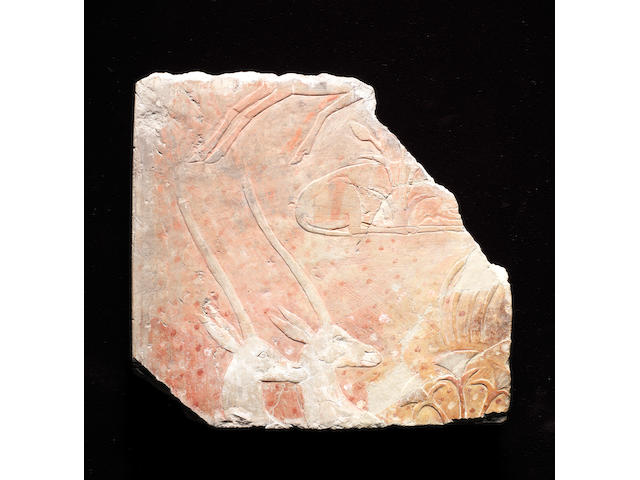 An Egyptian limestone relief