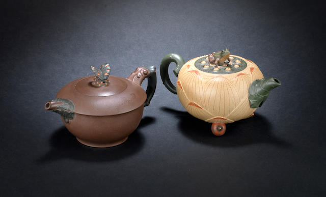 Two Yixing teapots and covers