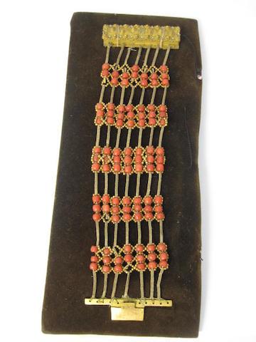 A coral bracelet, circa 1750