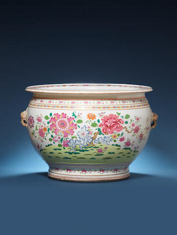 A fine large famille rose fishbowl Qianlong