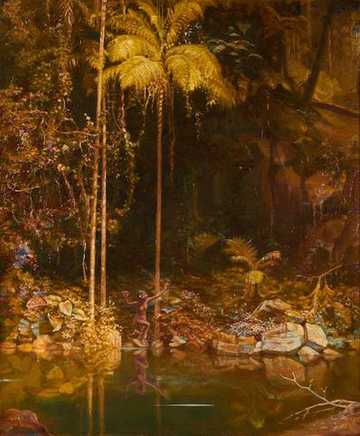 Charles Gordon Frazer (British, 1863-1899) 'The Forest Mirror, Queensland'