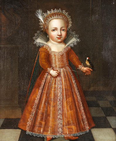 Northern European School, circa 1620 Portrait of a young girl, full-length, in