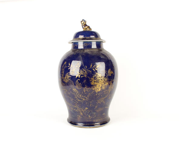 A Chinese vase and cover, 18th century