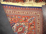 A part silk Tabriz carpet, North West Persia, 376cm x 298cm, signed