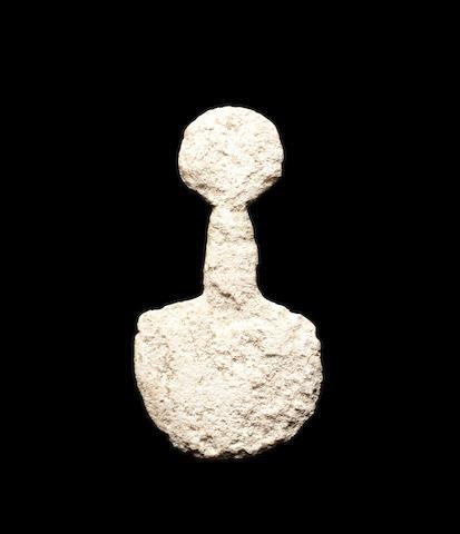 An Anatolian marble idol