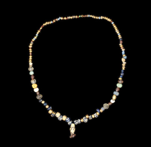 A Roman bead necklace (eye beads and sandiwch beads)