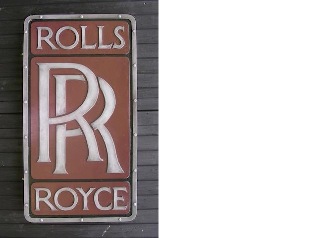 A Rolls-Royce garage display emblem,