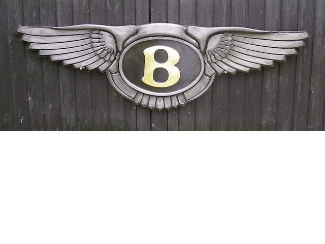 A Bentley garage display emblem,
