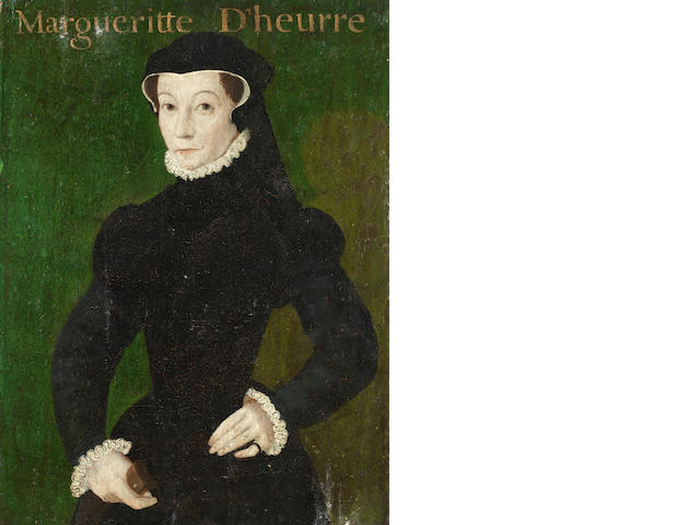 Follower of François Clouet (Tours 1522-1572 Paris) Portait of Margueritte  unframed