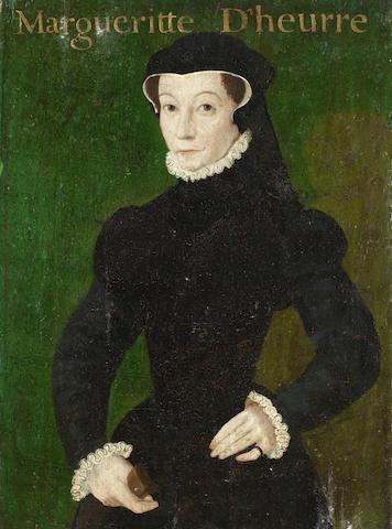 Follower of François Clouet (Tours 1522-1572 Paris) Portait of Margueritte  unframed