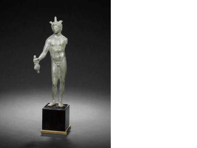 A Roman bronze figure of Hermes