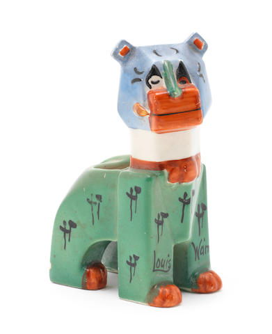 Louis Wain 'The Lucky Haw-Haw Cat' a Ceramic Model, circa 1930