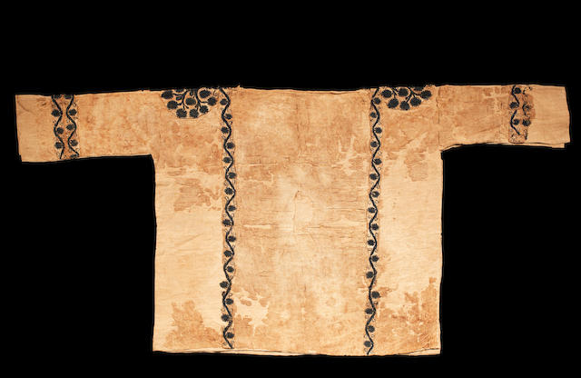 A Coptic linen and wool textile fragmentary child's tunic
