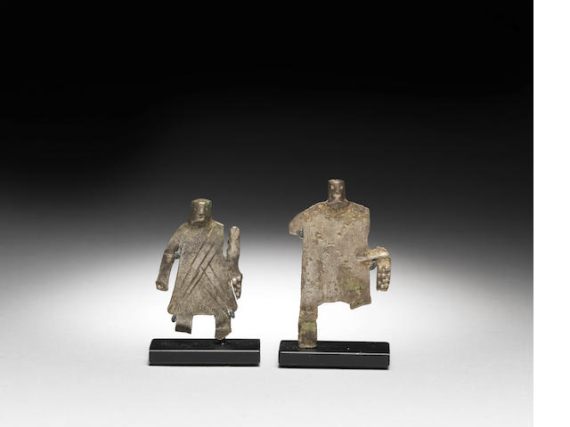 Two Anatolian silver figures