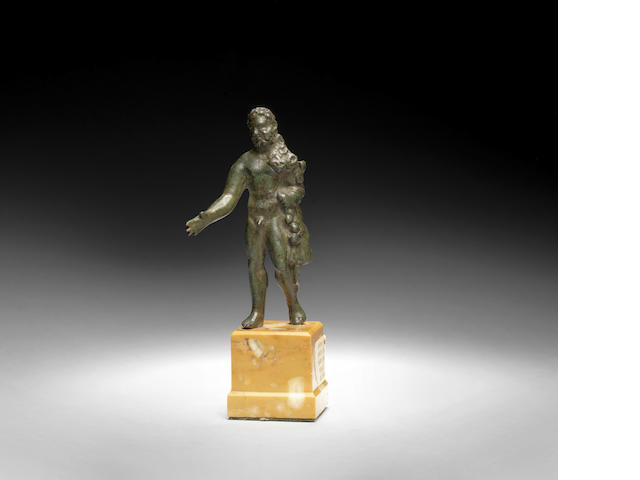 A Roman bronze figure of Hercules
