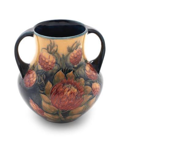 William Moorcroft 'Protea' a Rare Twin-handled Vase, circa 1928