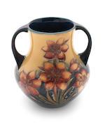 William Moorcroft 'Protea' a Rare Twin-handled Vase, circa 1928