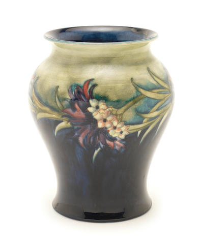 William Moorcroft 'Revived Cornflower' a Vase, circa 1916