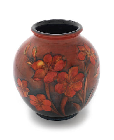 William Moorcroft 'Freesia' a Flambé Vase, circa 1928