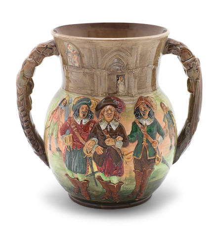 Doulton Burslem 'The Three Musketeers' a Loving Cup, 1936