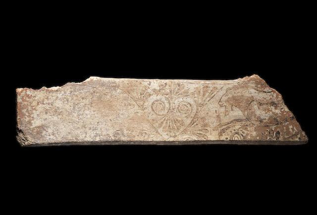 Clazomenean terracotta architectural fragment
