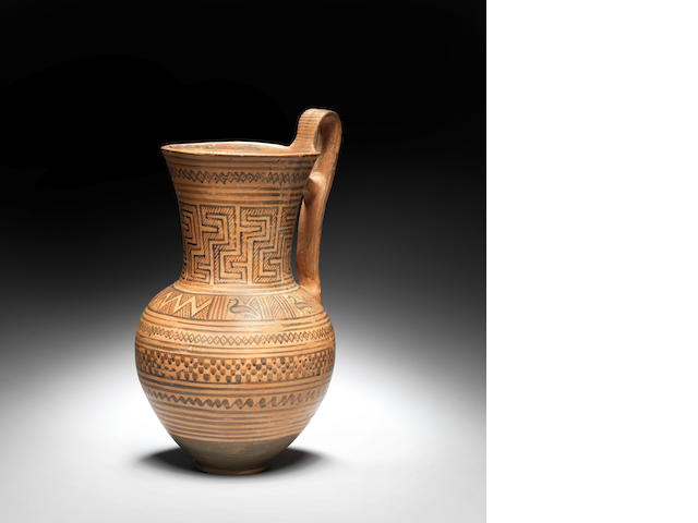 A Greek terracotta jug