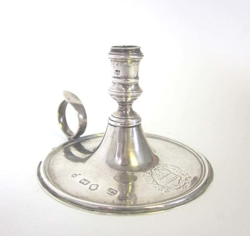 A George II silver chamberstick by Cooke & Gurney London 1737