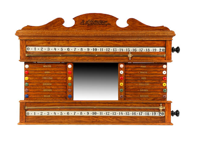 E J Riley & Co snooker scoreboard