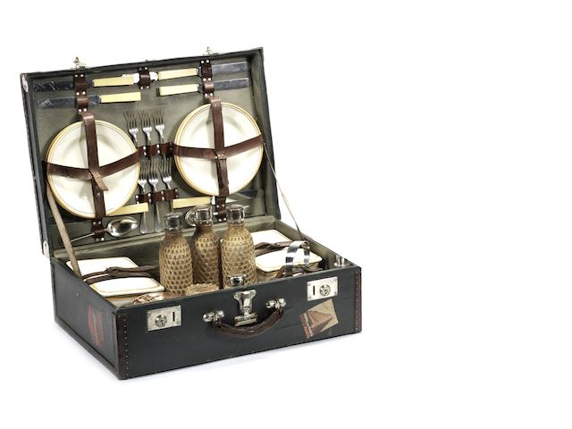 A 'Maison Allemand' six person picnic set, French,