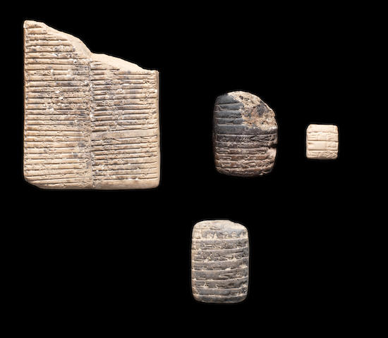 Four Mesopotamian clay tablets 4