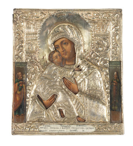 The Mother of God of Vladimir Russian, c.1800