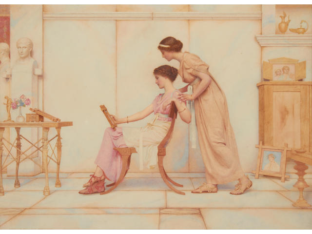 George Lawrence Bulleid (British 1858-1933) The young artist