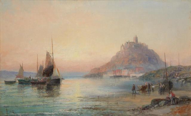 William Thornley (British, 1857-1898) St. Michael's Mount