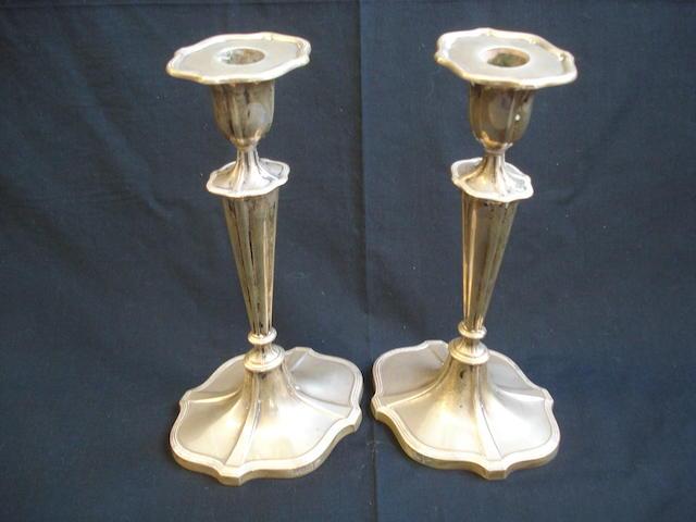 A pair of candlesticks Walker & Hall Sheffield, 1936  (2)