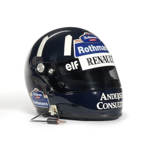 A Damon Hill Arai helmet,