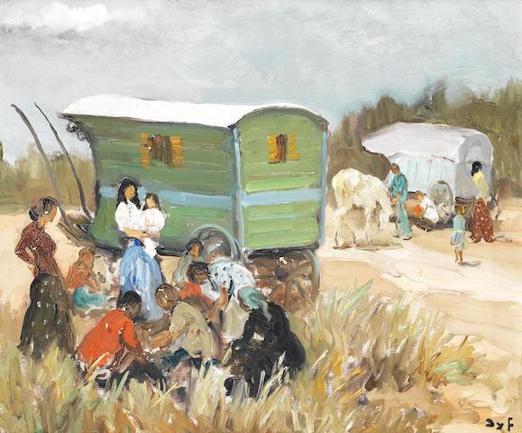 Marcel Dyf (French, 1899-1985) La halte des gitans 45 x 53.5cm