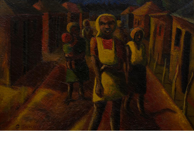 Gerard Sekoto (South African, 1913-1993) 'Raw light, Lemba'