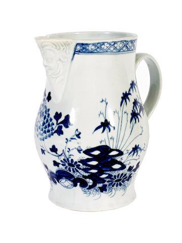 A Chaffers mask jug, circa 1770