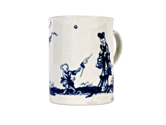 A Worcester small mug, circa 1755-65