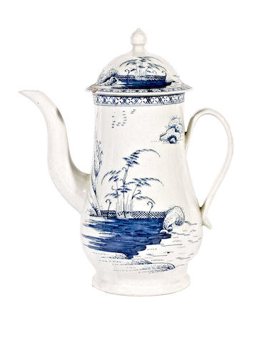A Chaffers coffee pot and cover, circa 1760